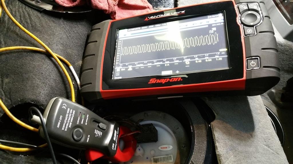 конфигурация испытания пандуса течения топливного насоса bmw e60